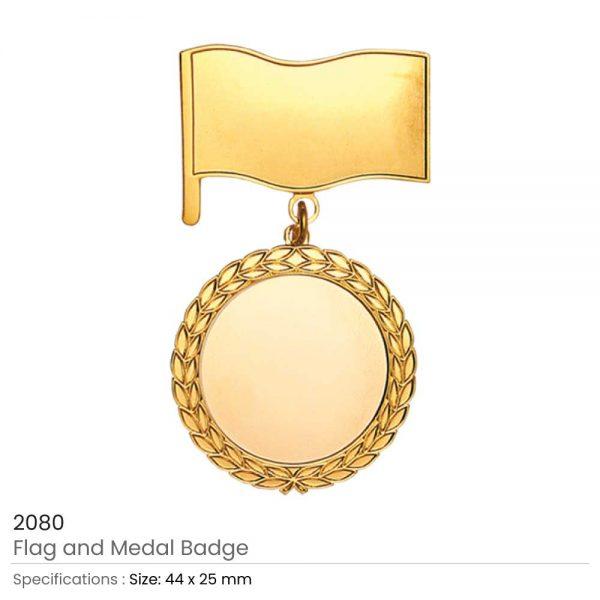 Flag and Medal Badges