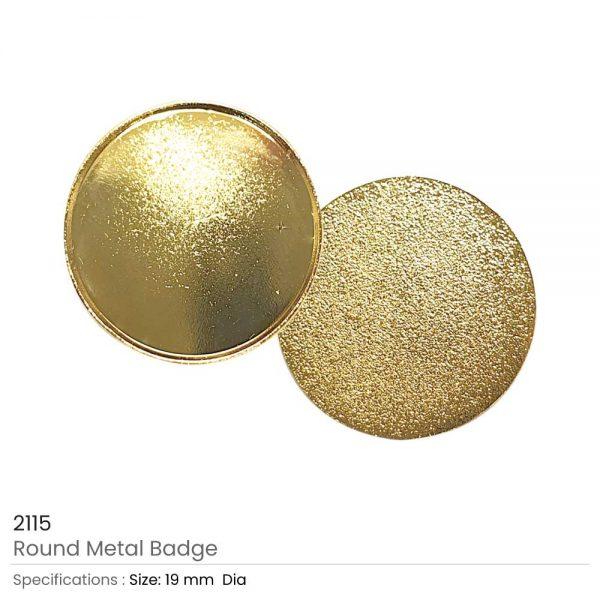 Gold Round Metal Badges