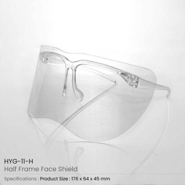 Half Frame Face Shields