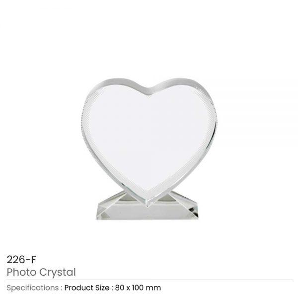 Heart shape Photo Crystals