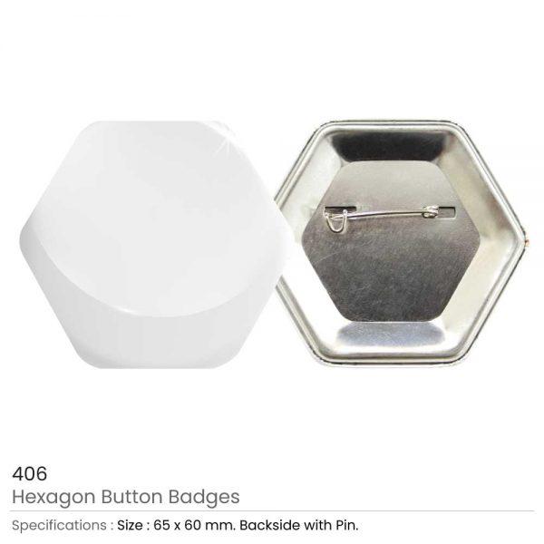 Hexagon Button Badges