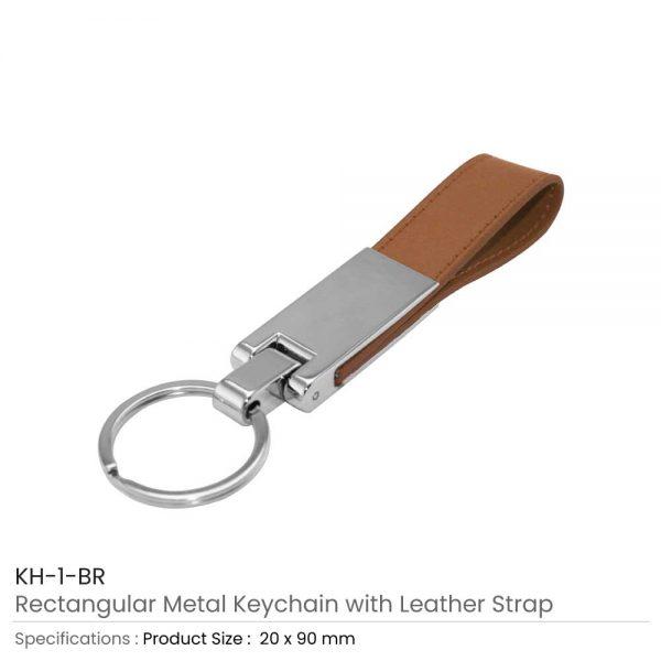 Metal Keychains Brown