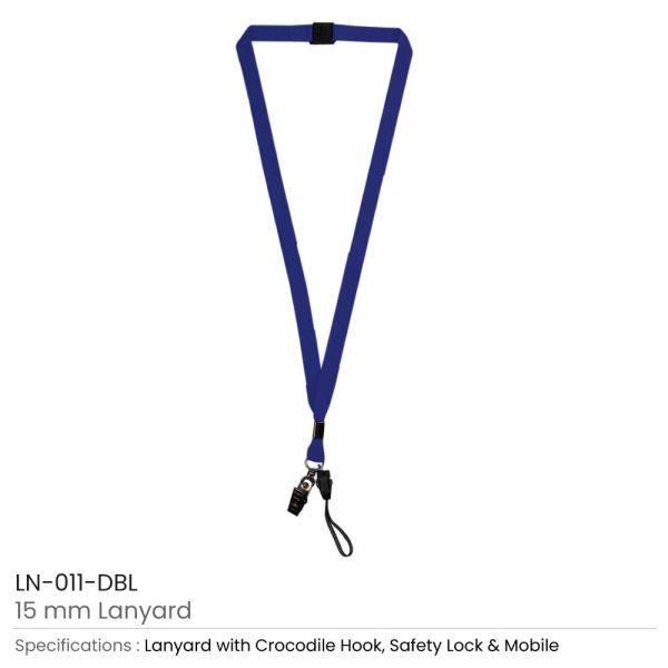 Lanyard with Mobile Holder Dark Blue