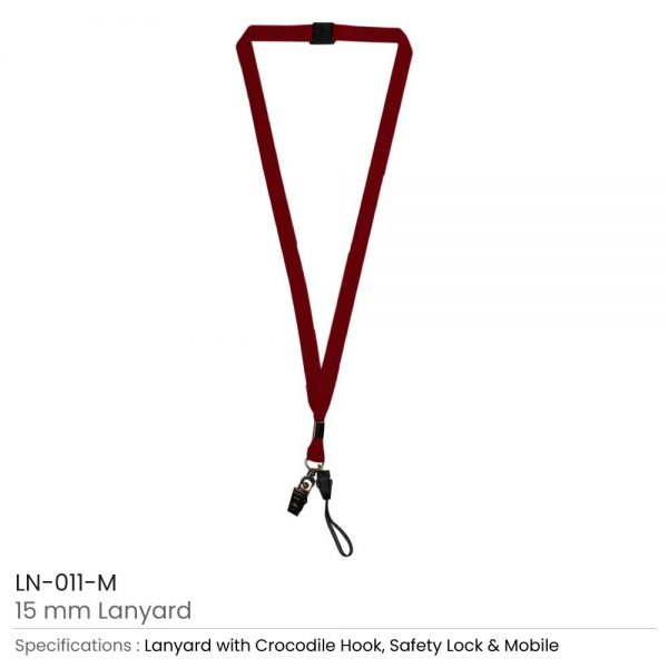 Lanyard with Mobile Holder Maroon
