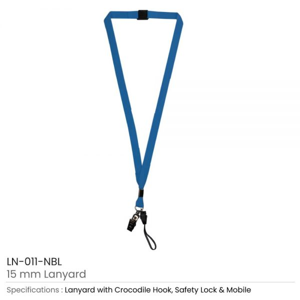 Lanyard with Mobile Holder Navy Blue
