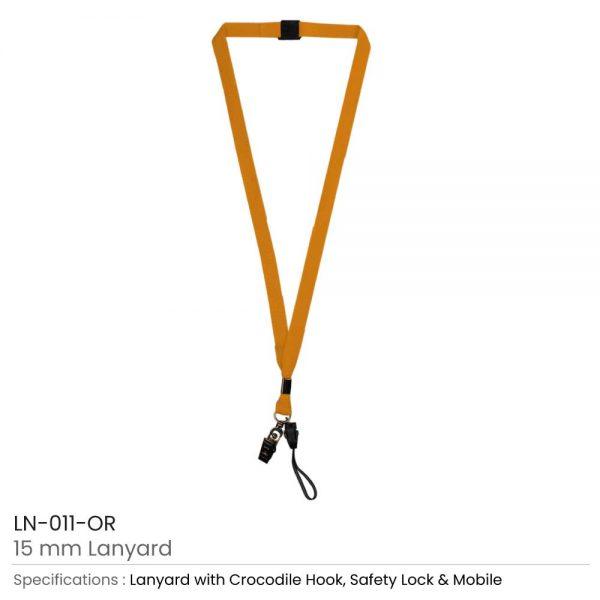 Lanyard with Mobile Holder Orange