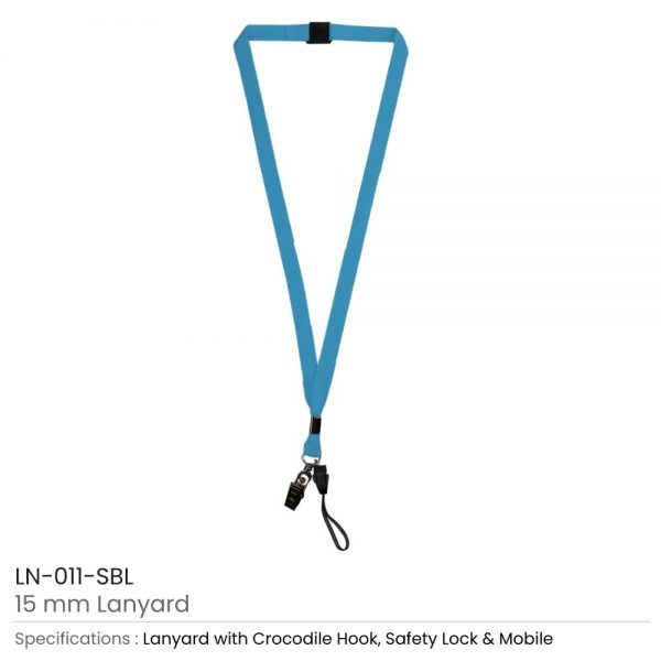 Lanyard with Mobile Holder Sky Blue