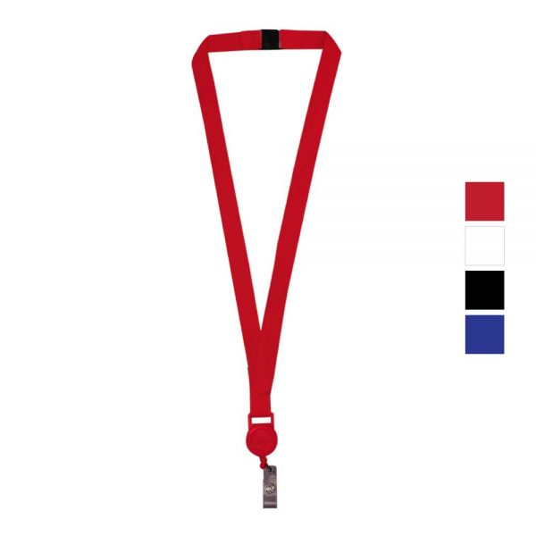 Lanyard with Reel Badge and Safety Lock