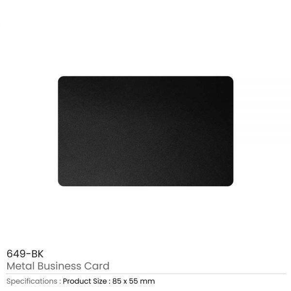 Metal Business Cards Black