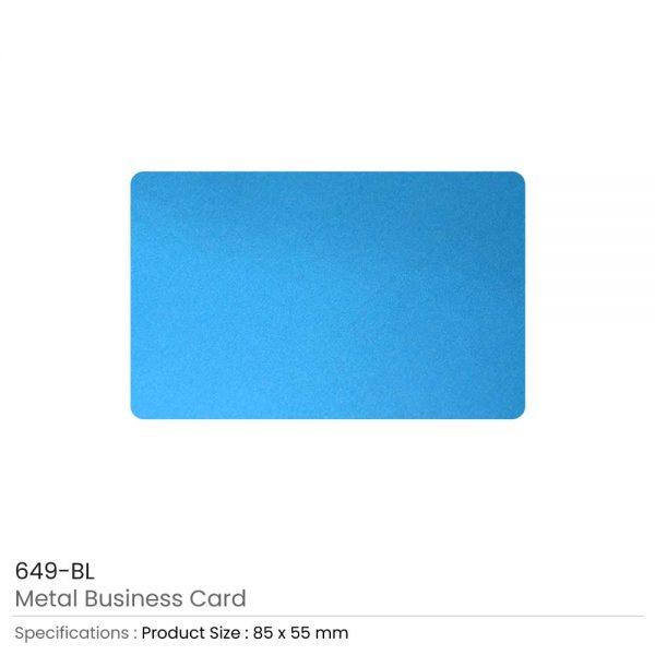 Metal Business Cards Sky Blue