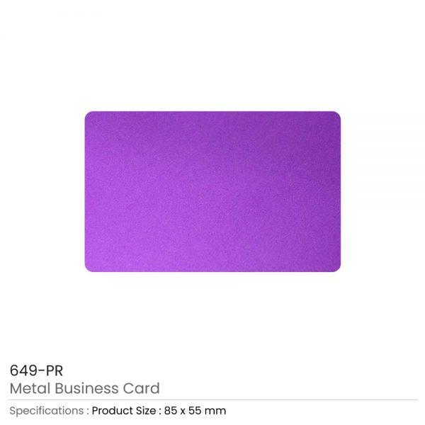 Metal Business Cards Purple