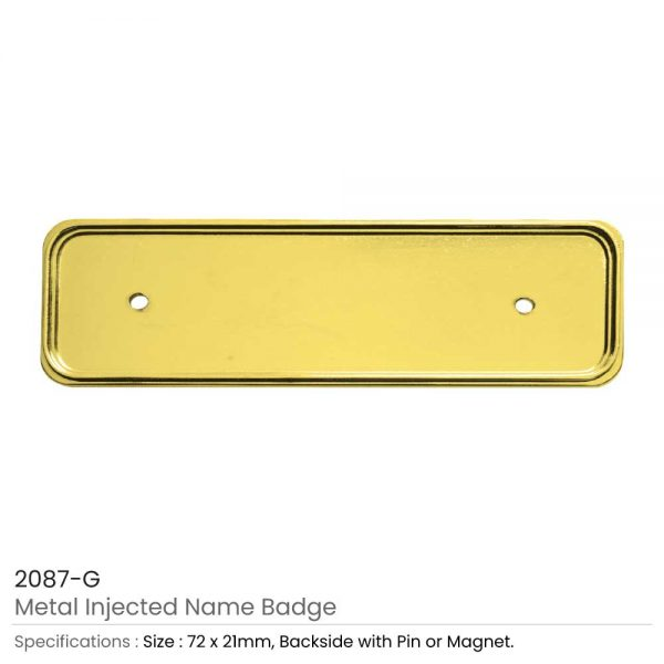 Metal Injected Name Badge Gold