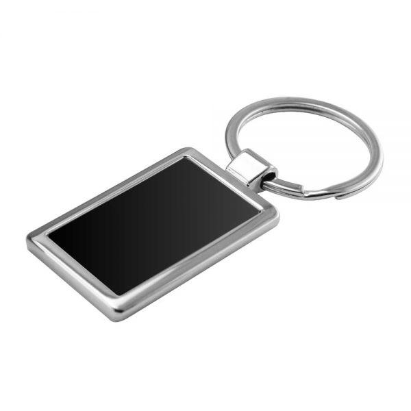 Rectangular Shaped Metal Keychain