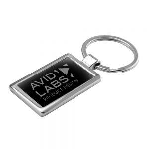 Promotional Rectangular Shaped Metal Keychain