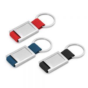 Metal Keychain with Strap
