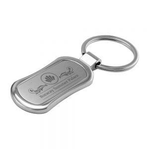 Promotional Rectangular Oval Metal Keychain