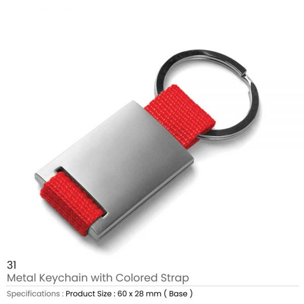 Metal Keychain Red
