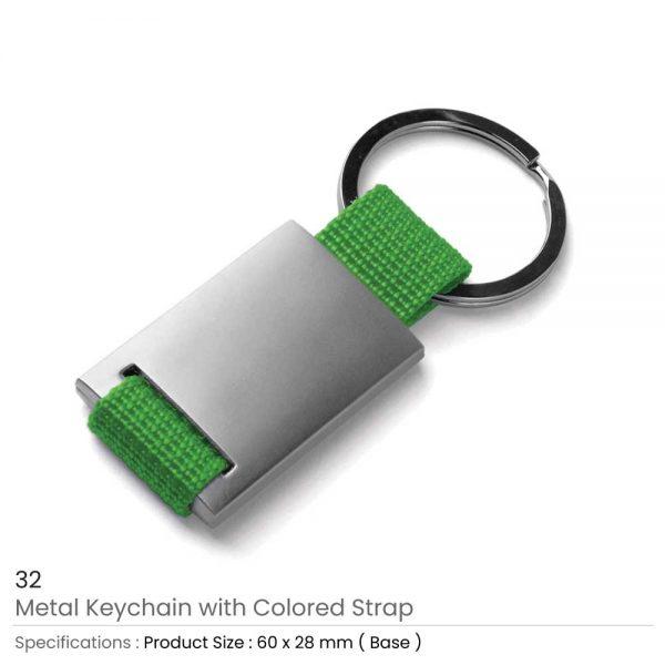 Metal Keychain Green