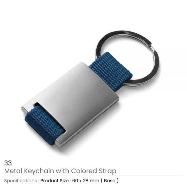 Metal Keychain Blue
