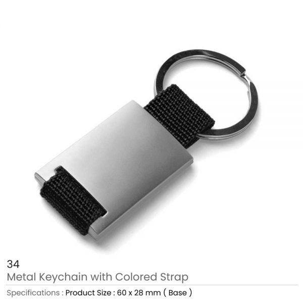 Metal Keychain Black