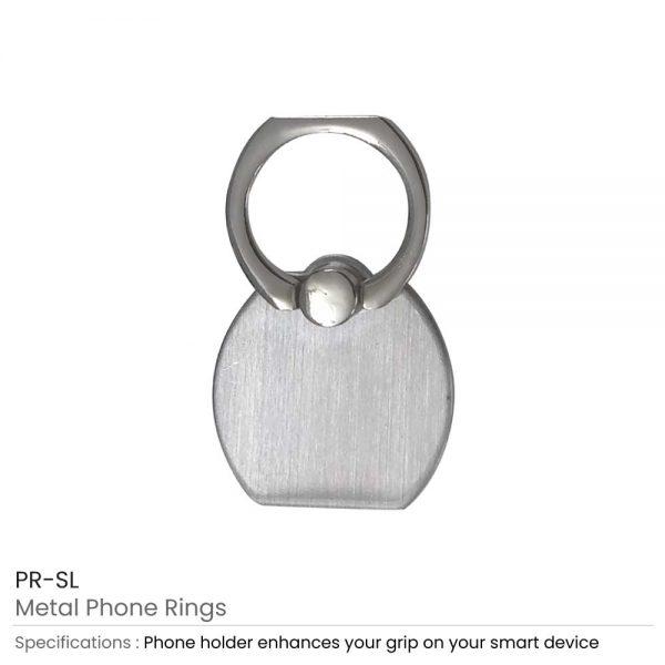 Metal Phone Rings Silver