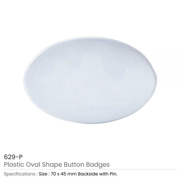 Oval Button Badges Plastic