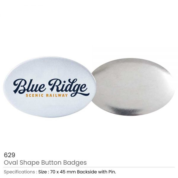 Oval Button Badges