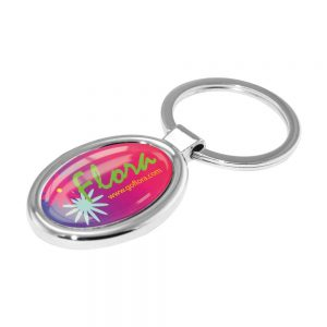 Promotional Oval Metal Keychains