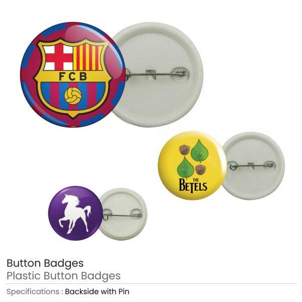 Branding Plastic Button Badge