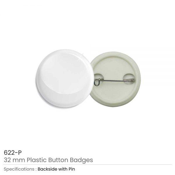 Plastic Button Badge 32mm
