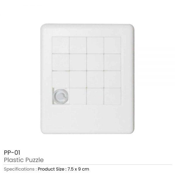 Plastic Puzzle White Color