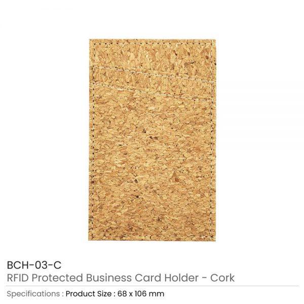 RFID Protected Card Holder Cork