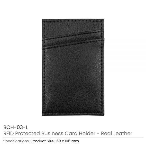 RFID Protected Card Holder Leather