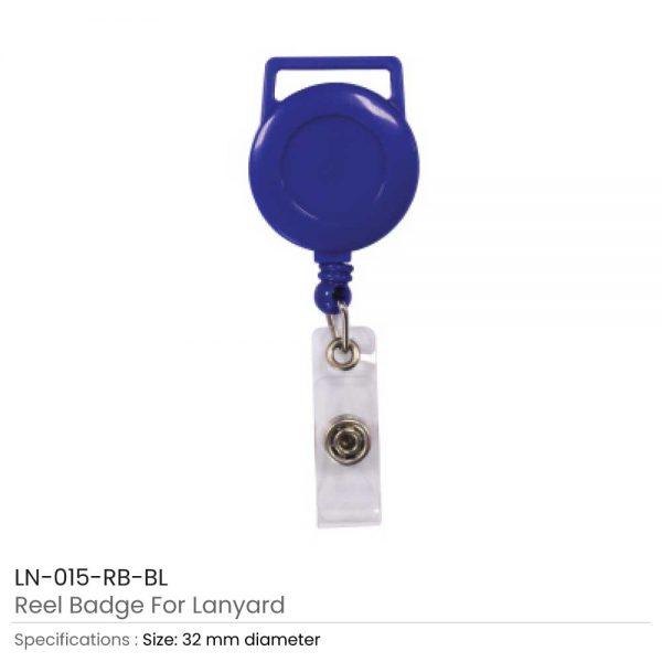 Blue Reel Badge For Lanyard
