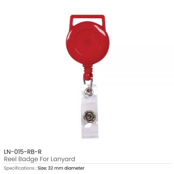 Red Reel Badge For Lanyard