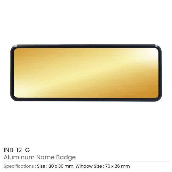 Reusable Name Badges Gold