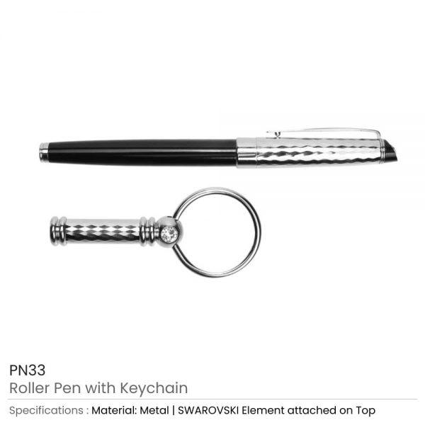Roller Pen & Keychain