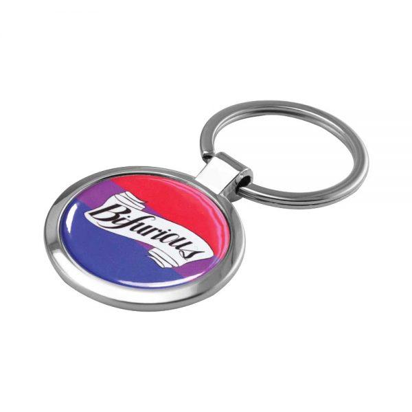 Promotional Round Metal Key Holders
