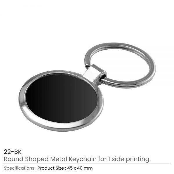 Round Shaped Metal Keychain