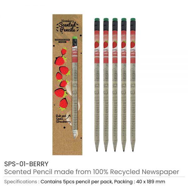 Berry Scented Pencils Set