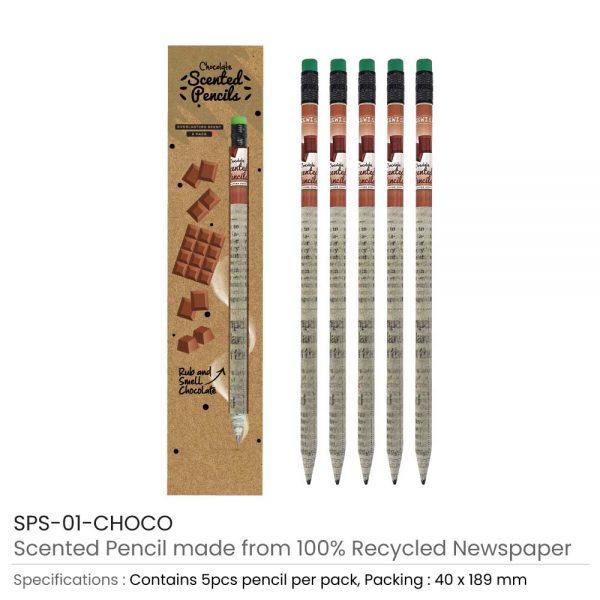 Choco Scented Pencils Set