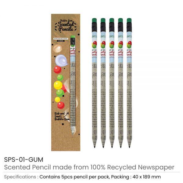 Gum Scented Pencils Set