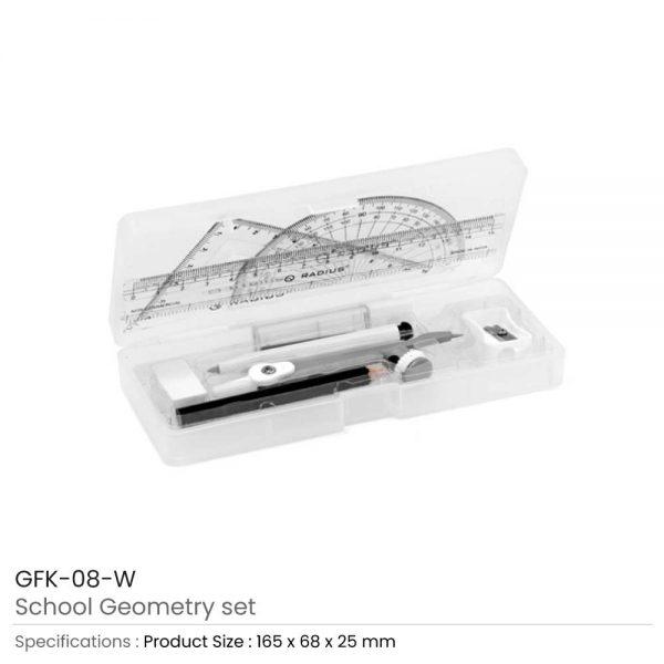 School Geometry Sets White