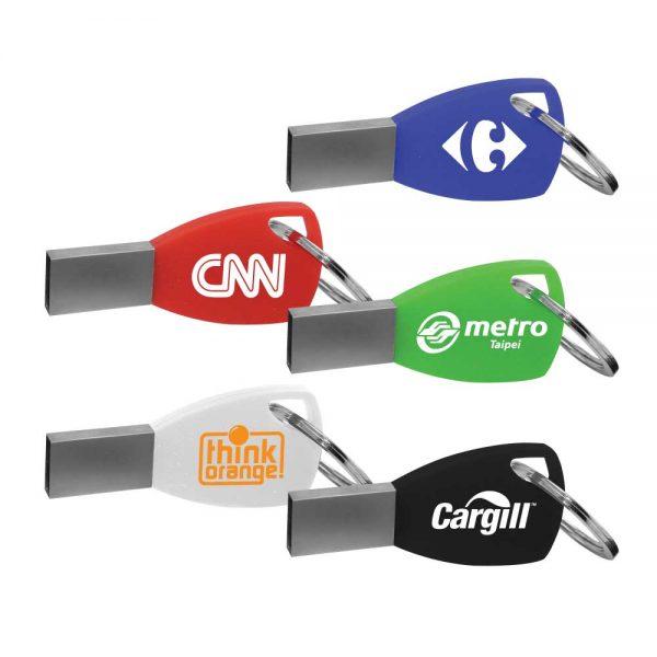 Promotional Silicone Key chain USB