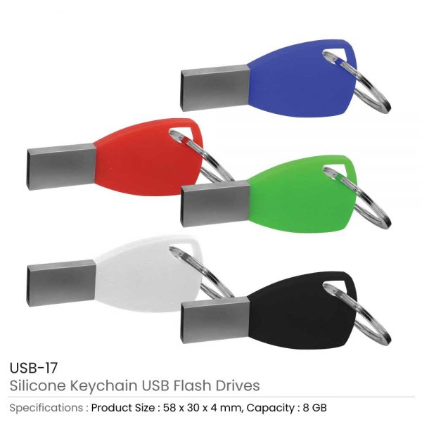 Silicone Key chain USB Flash Drives