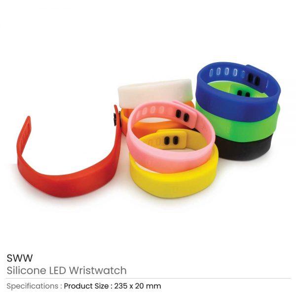 silicone Wristband with Digital Watch