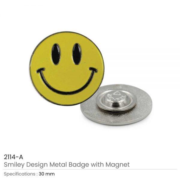 Smiley Metal Badges