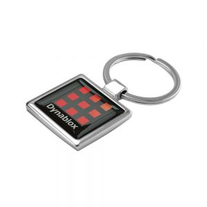 Promotional Square Shaped Metal Keychain