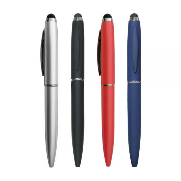 Metal personalized pen with a stylus