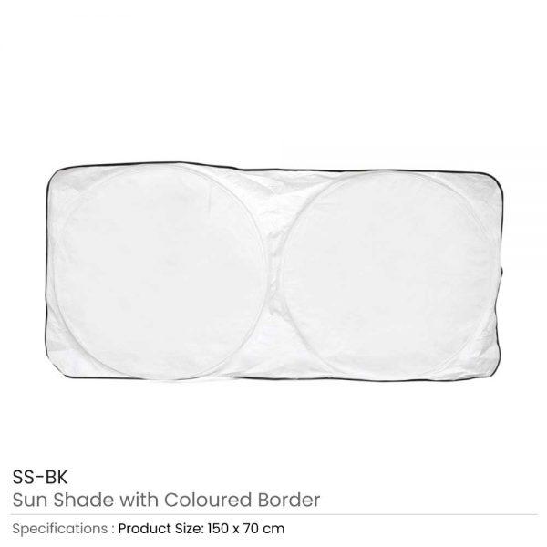 Car Sun Shades White with Black Border